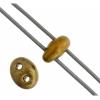 Twin 2-hole Bead 2.5x5mm Metallic Copper Mix